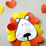 lion valentines day craft for kids, including free printable lion face and more