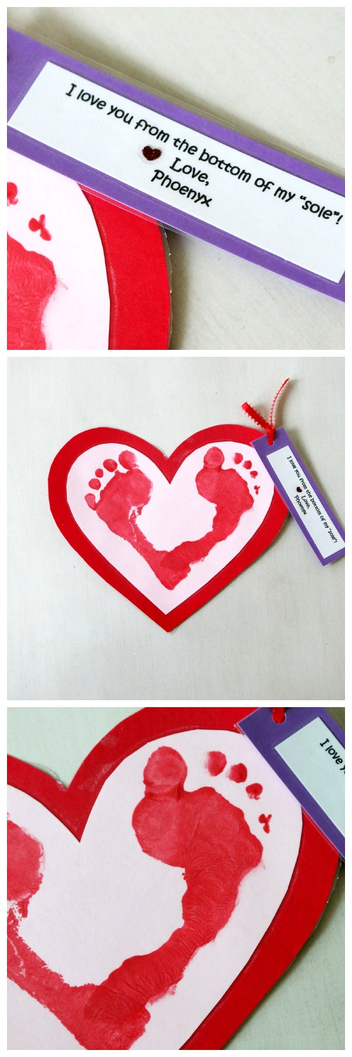 valentines craft bottom of your sole
