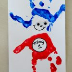 Dr. Suess Inspired Thing 1 and Thing 2 Handprint Art
