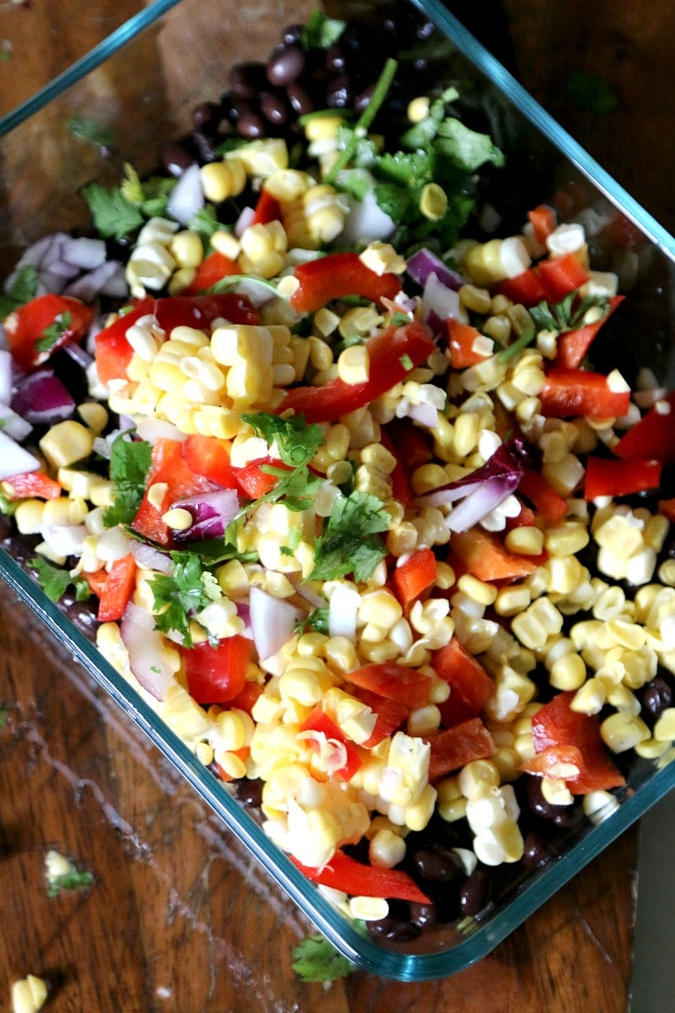 Black Bean and Corn Salsa recipe - eat with chips or stuff in a tortilla for a tasty fulfilling lunch