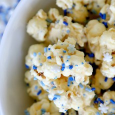 Frozen Inspired Mint White Chocolate Popcorn , Great for Parties and fun