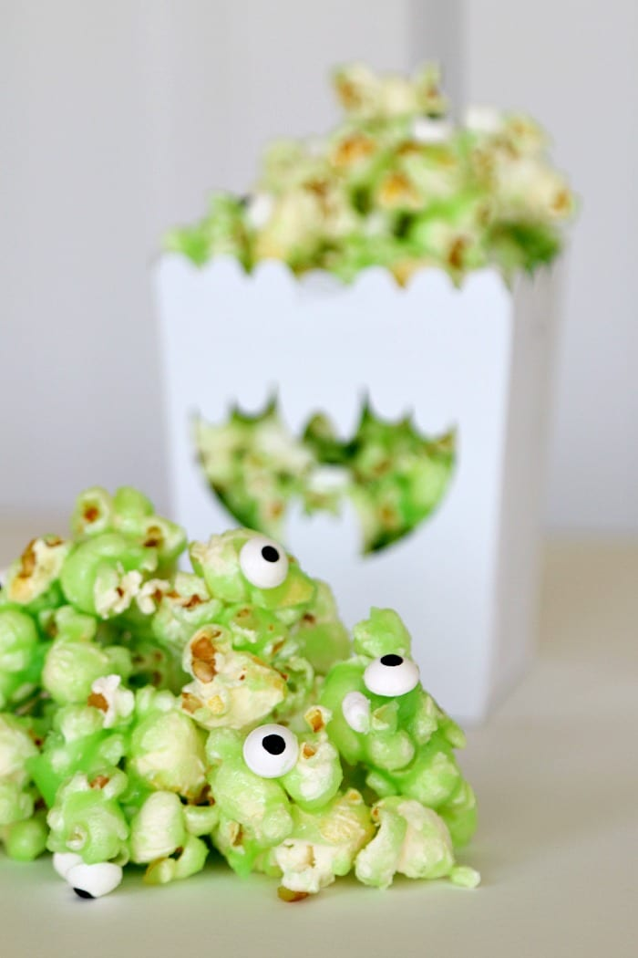 how to make green popcorn for slime and monster recipes
