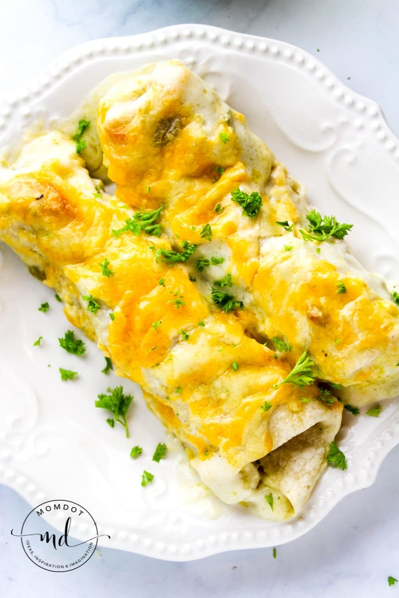 Easy and Creamy White Chicken Enchiladas