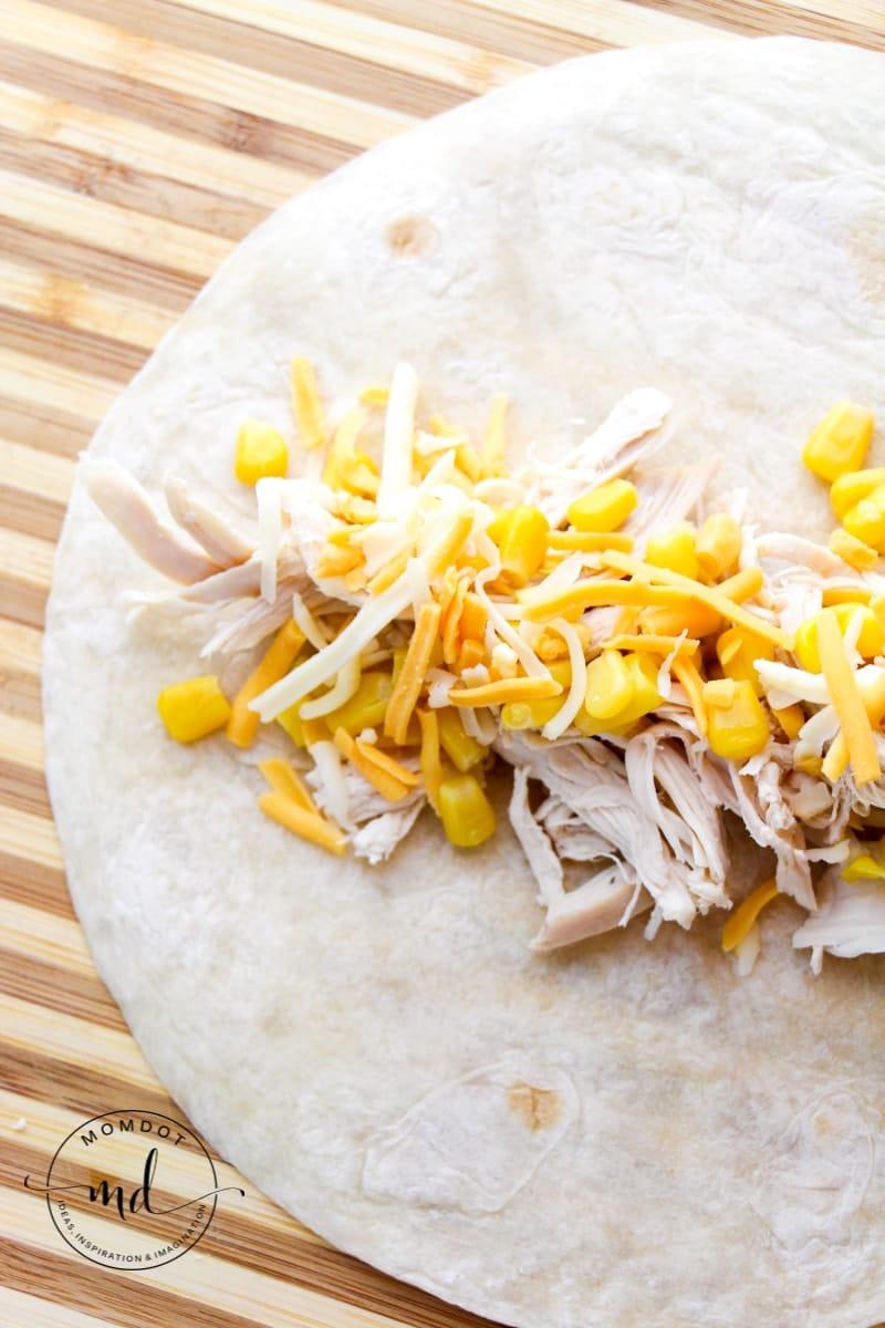 Easy and Creamy White Chicken Enchiladas   white chicken enchilada recipe