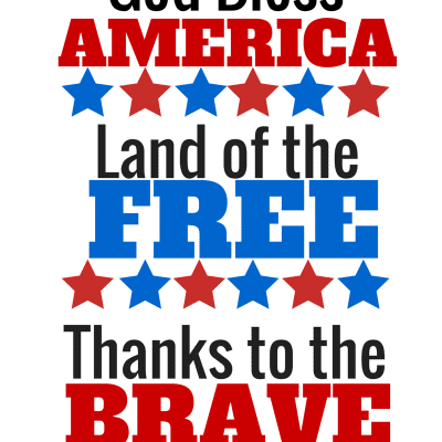 July Fourth Printable (Free) God Bless America