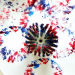 Dish Brush Firework Art for Kids