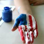 American Flag Handprint plus Free Printable