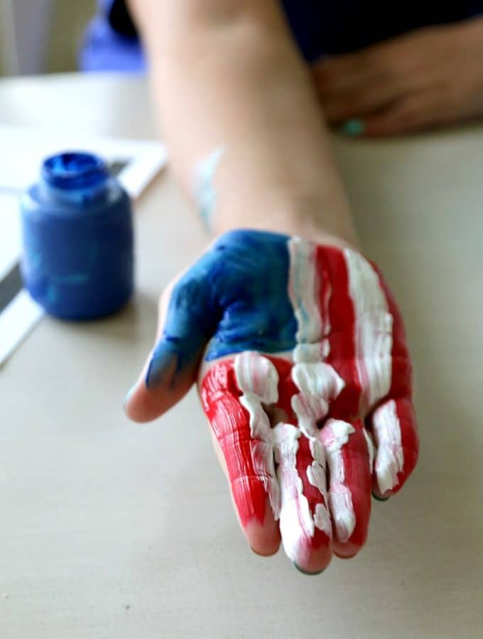 American Flag Handprint plus Free Printable
