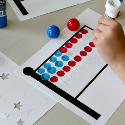 4th of July Dauber Flag Kids Craft: Printable