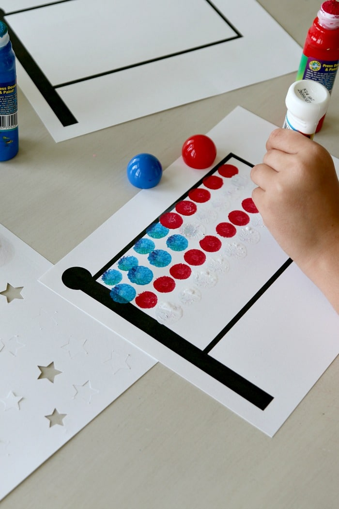 Free Flag Printable for Dobber Fourth of July Kids Crafting