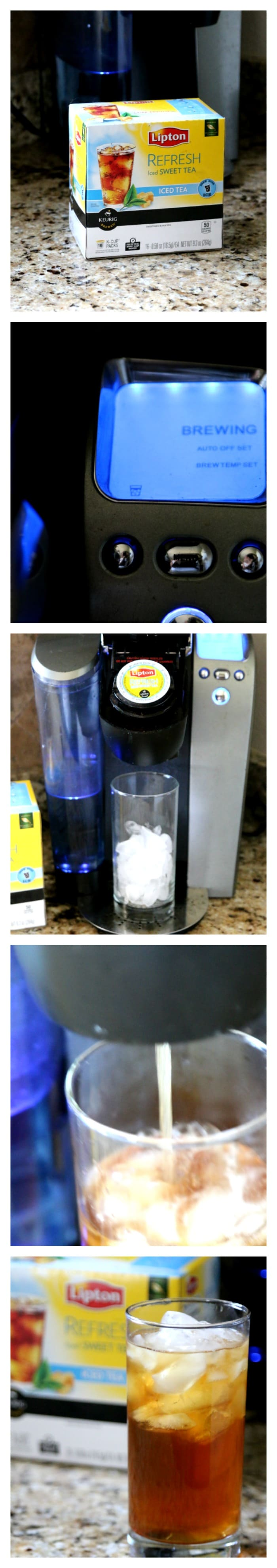 iced tea brewed on keurig