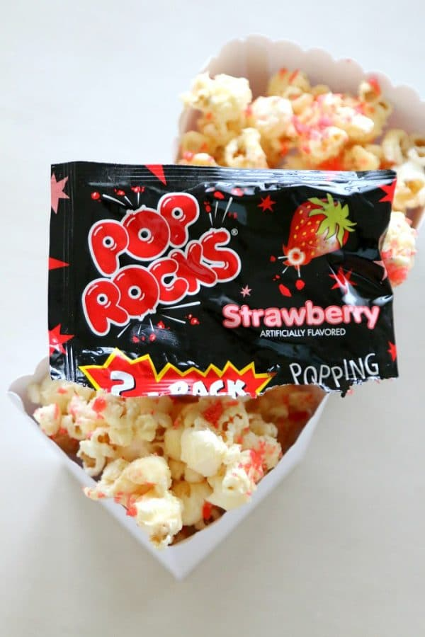 Firework Popcorn: Popcorn recipe that really POPS! (hint: poprocks!)