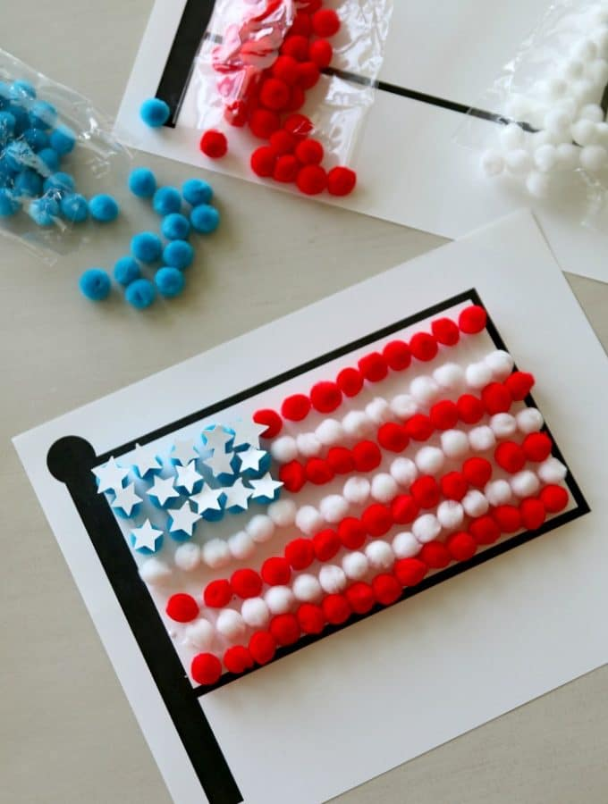 Free Flag Printable for Pom Pom Flag