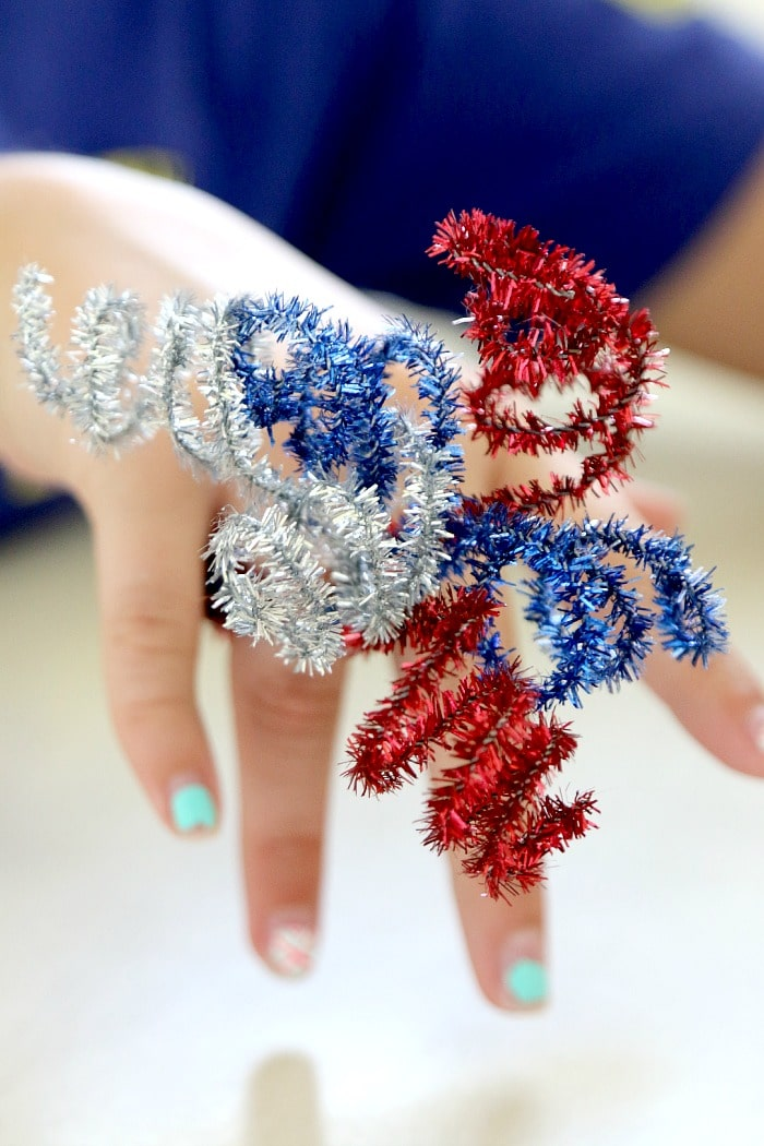 How to make a fourth of july fireworks crafting ring for kids