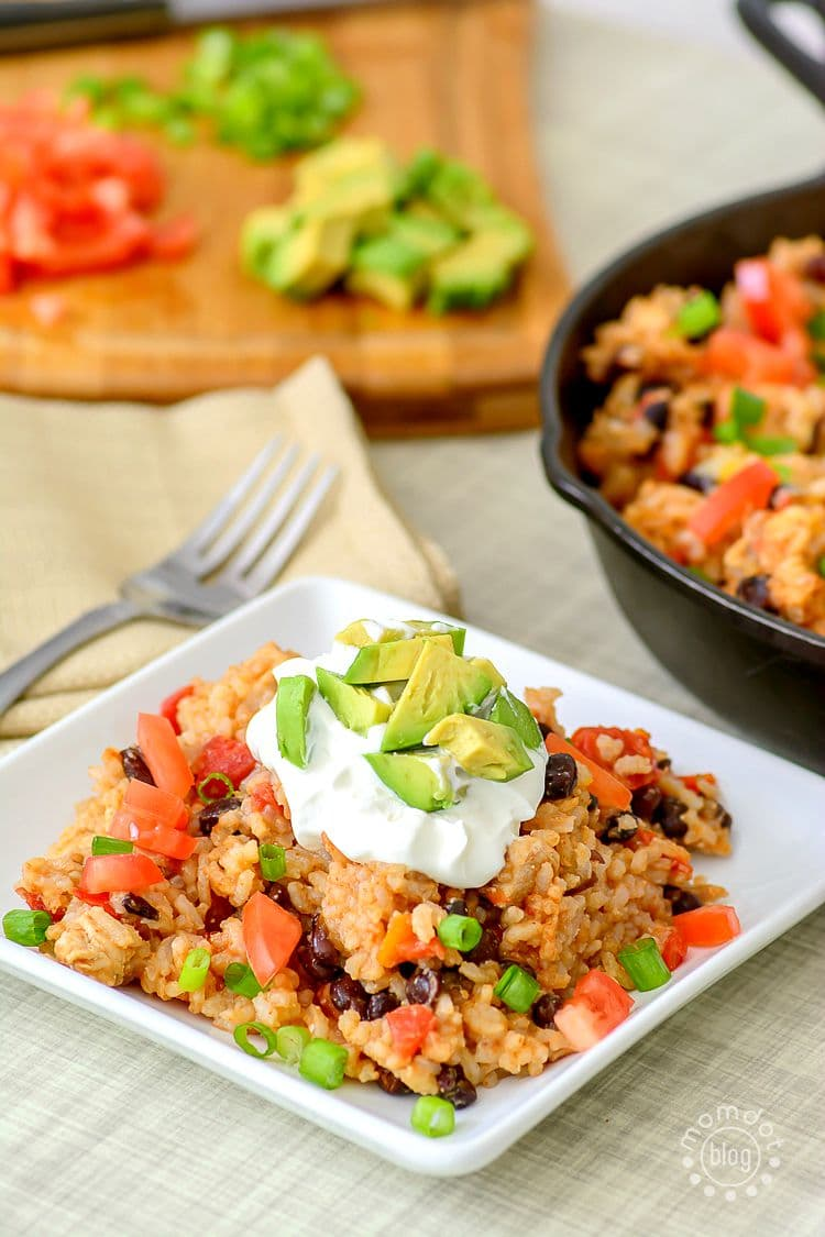 One Pan Burrito Bowl, perfect during the school week, this hearty but simply meal pulls out all the stops in under 30