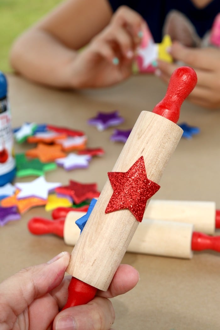crafting with kids rolling pin