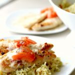 CREAMY BRUSCHETTA CHICKEN with Rice