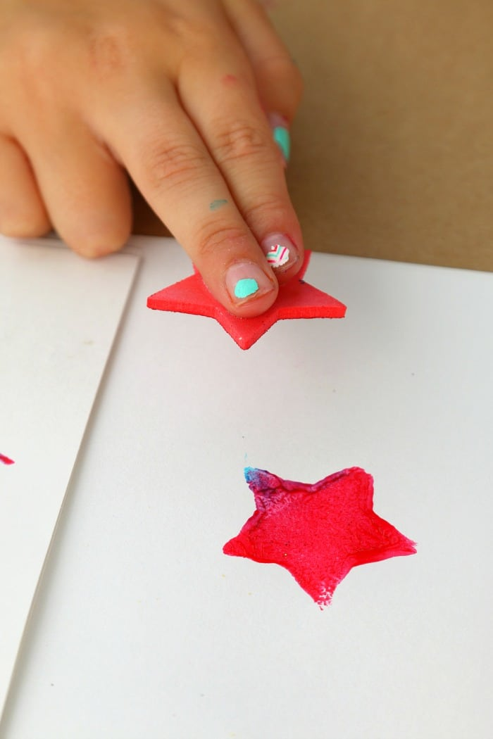 Stamping July 4th Stars