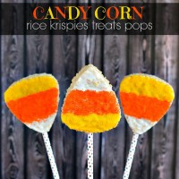 Candy Corn Rice Krispies Treat Pops