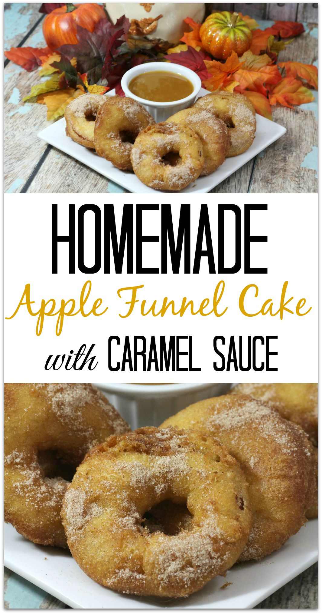 Homemade apple funnel cake