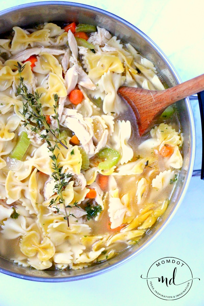 Easy Homemade Chicken Noodle Soup Recipe, Done in under 30 minutes, a quick rainy day soup fix to comfort your soul