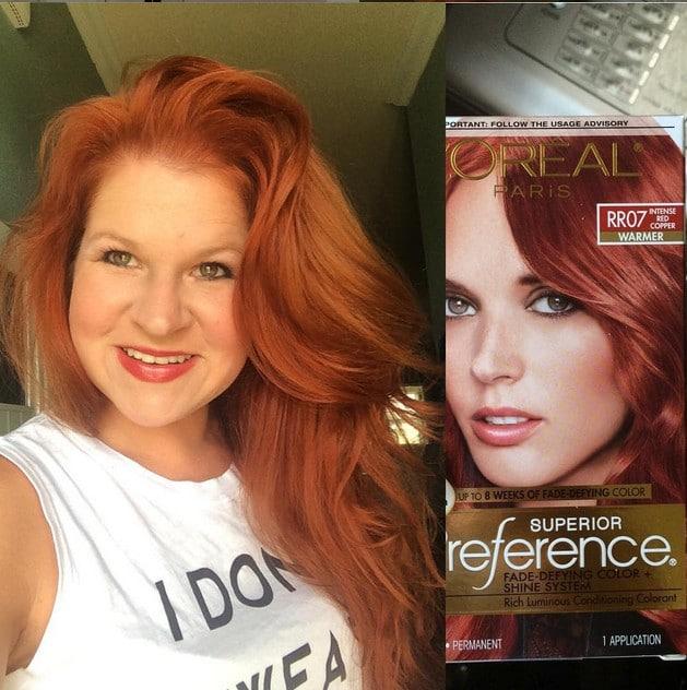 loreal intense copper hair dye