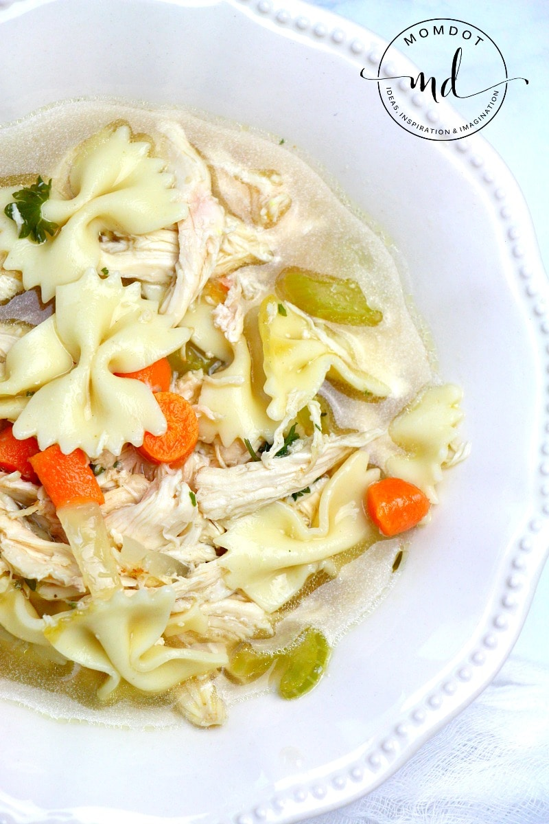 Easy Homemade Chicken Soup Recipe, Done in under 30 minutes, a quick rainy day soup fix to comfort your soul