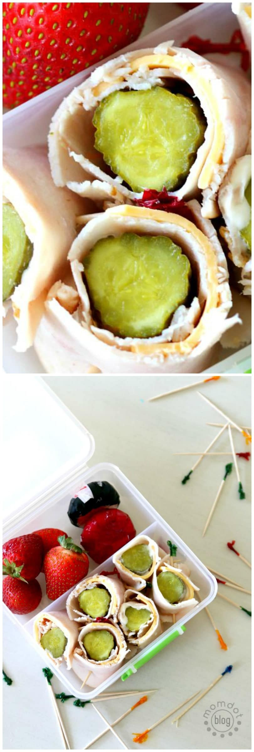 Turkey and Pickle roll ups | Easy Kids Lunch | Alternative to a Sandwich | Pickle Snack and Appetizer