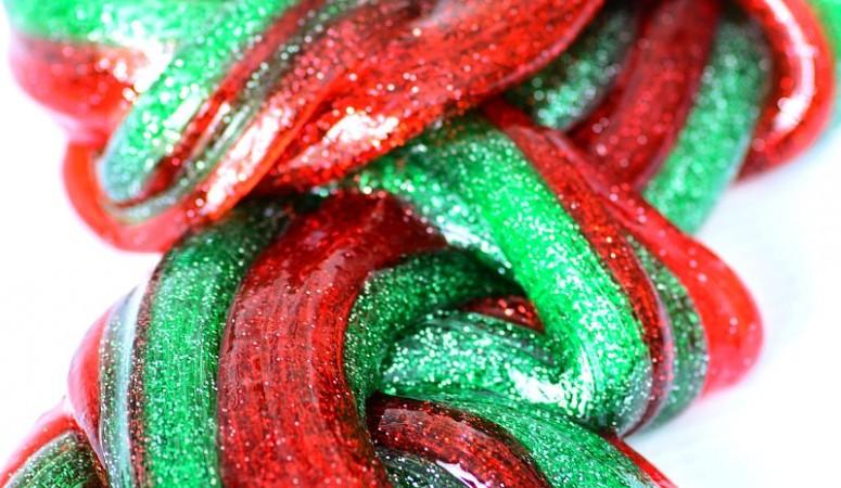 Peppermint Christmas Slime