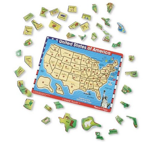 I Originally Discovered The Melissa Doug Deluxe Wooden Usa Map Sound Puzzle At A Local Toy Store My Son Spent 20 Minutes Playing With It Before I Had To