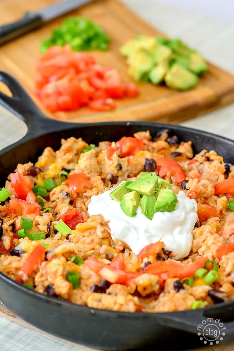 One-Pan Chicken Burrito Bowl