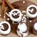 Edible Chocolate Shot glasses with Egg Nog