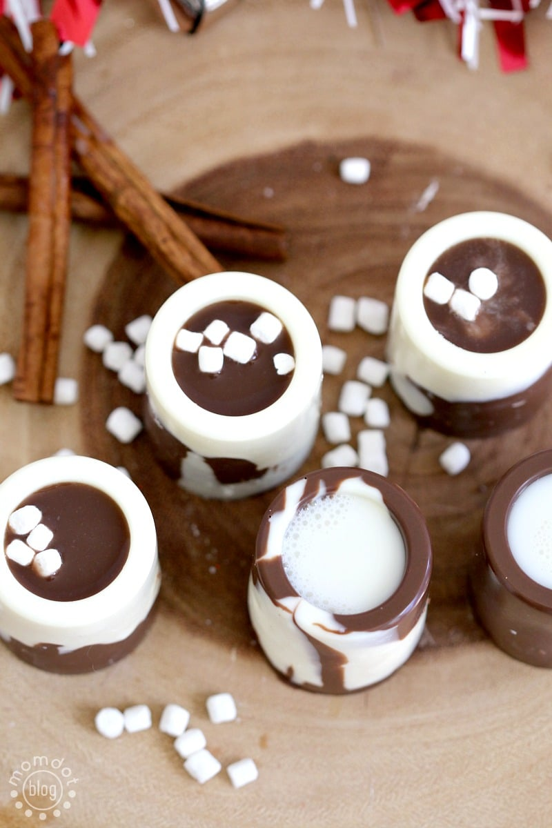 Egg Nog and Chocolate Shooters, How to make Egg Nog Shot glasses for holiday fun