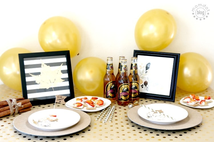 Sophisticated kids table at your next holiday gathering