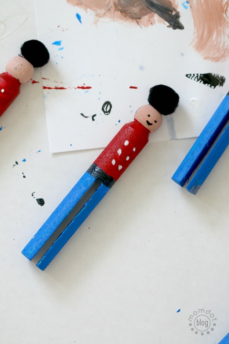 Little Drummer Boy Christmas Ornament DIY Tutorial, Clothespin Ornament