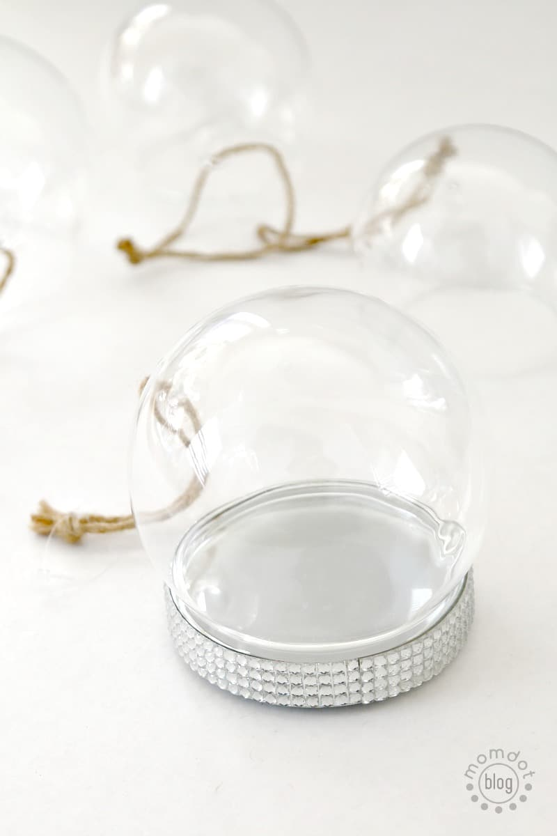 """Create easy Snow Globe ornament decoration """"Rudolph the Red nose Reindeer"""" version"""