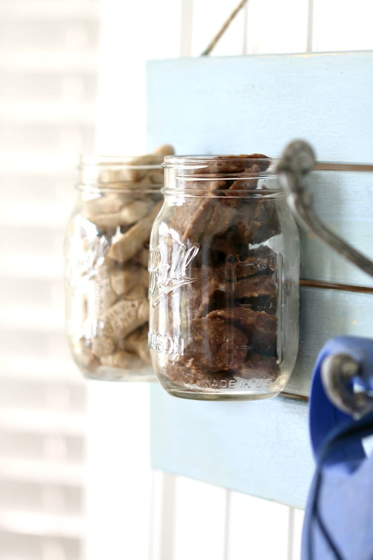Create a Leash and Treat DIY holder for your dog or dog loving friend this holiday