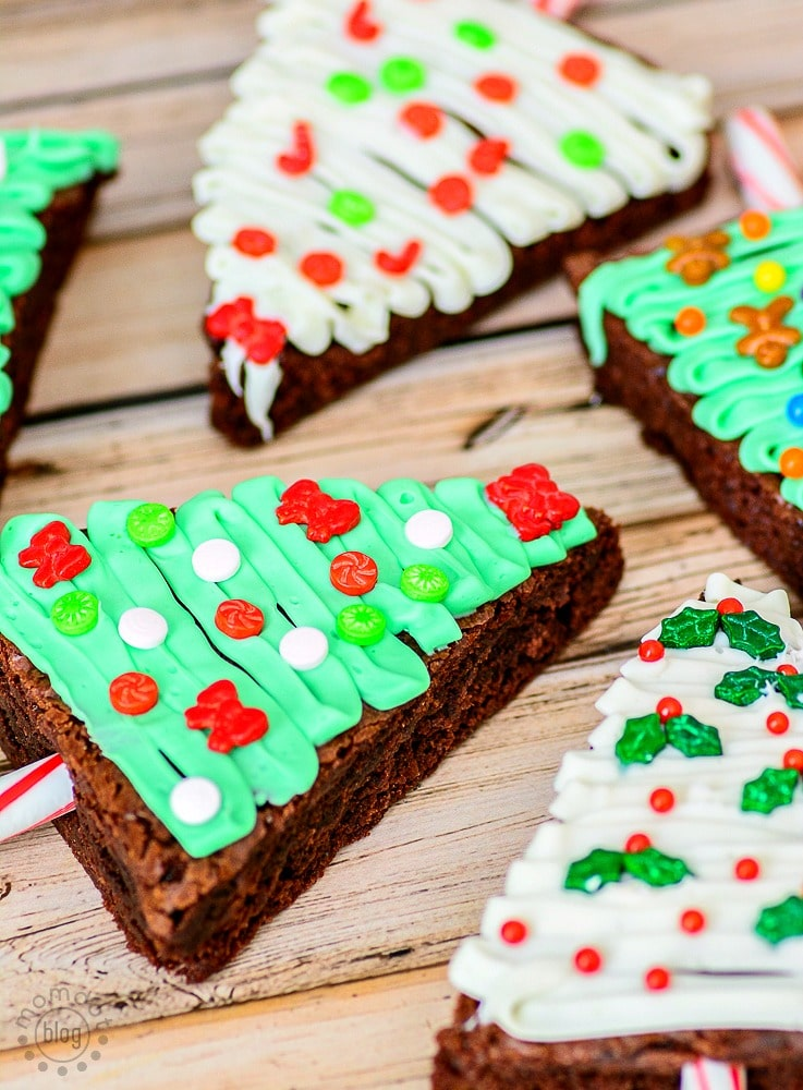 Decorate Christmas Tree Brownies for a fun and festive night before Christmas - kids love this one!