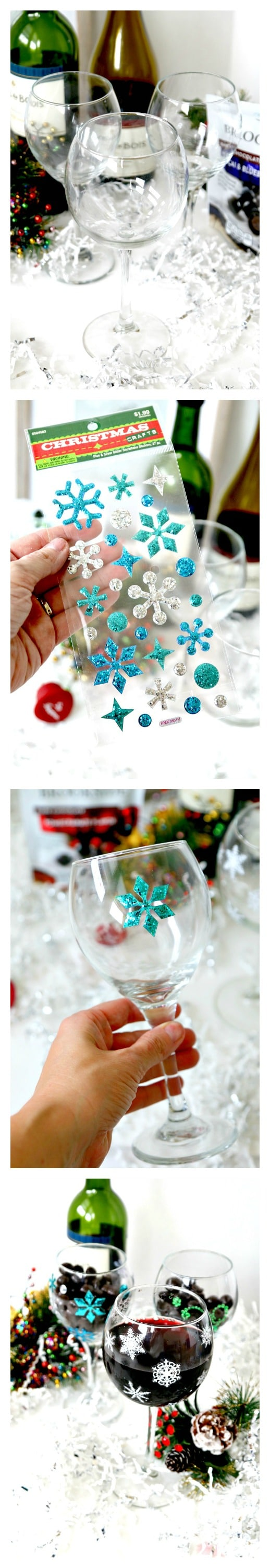 You dont need a commitment for holiday decor. Check this easy and effective hack to dress up your holiday glasses and decor for entertaining