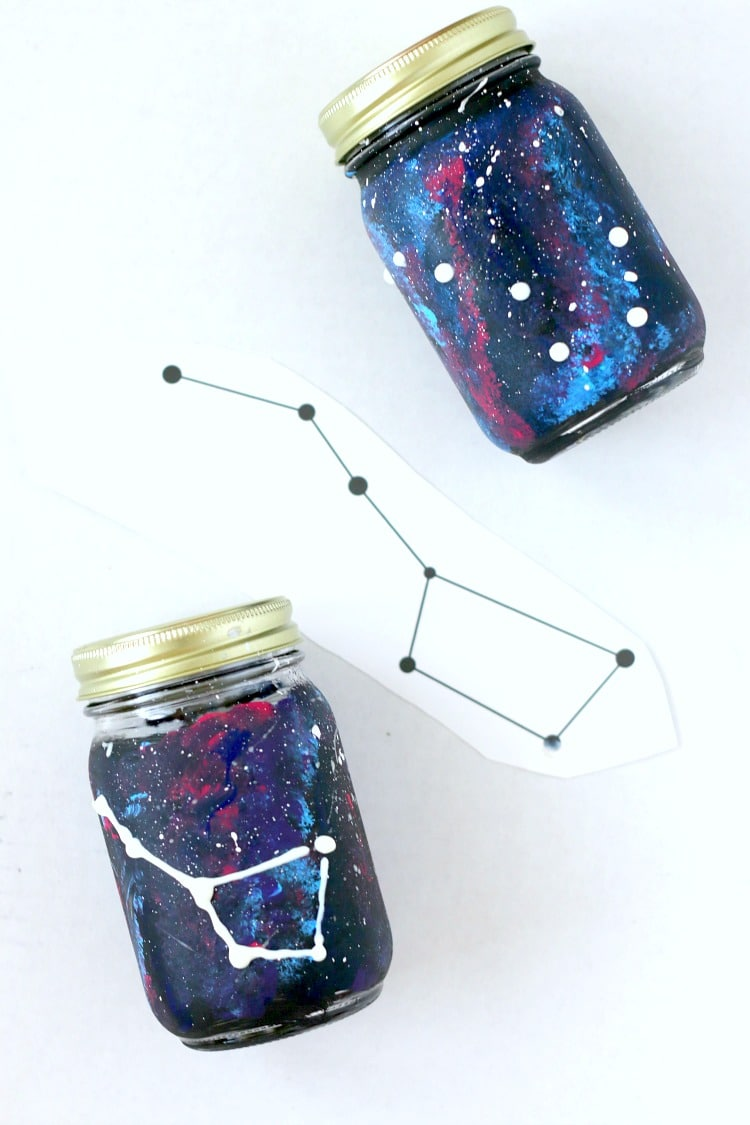 Create a Glow in the Dark Big Dipper on your Constellation Jar : Learn how to do both!