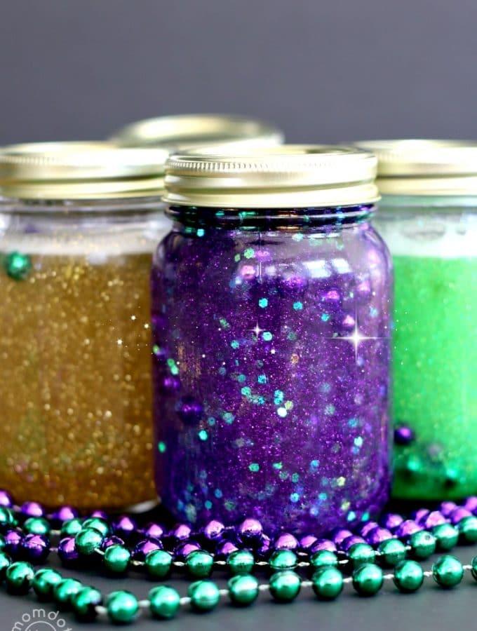 Mardi Gras Calming Jar Tutorial