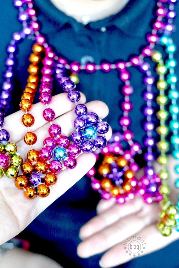 Diy Mardi Gras Statement Necklace