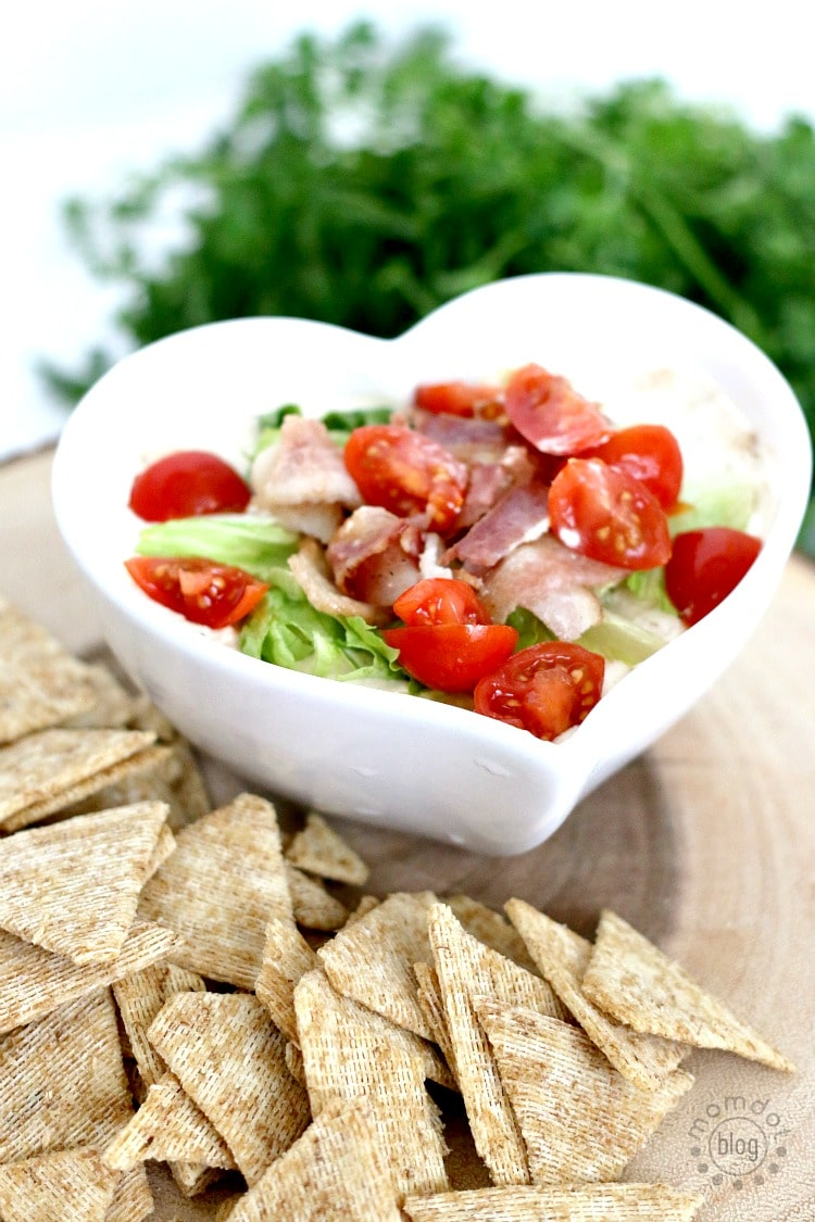 2 Delicious Dip Recipes perfect for Superbowl Sunday: Homemade Hummus and BLT Dip