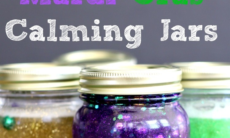 Mardi Gras Calming Jar Tutorial