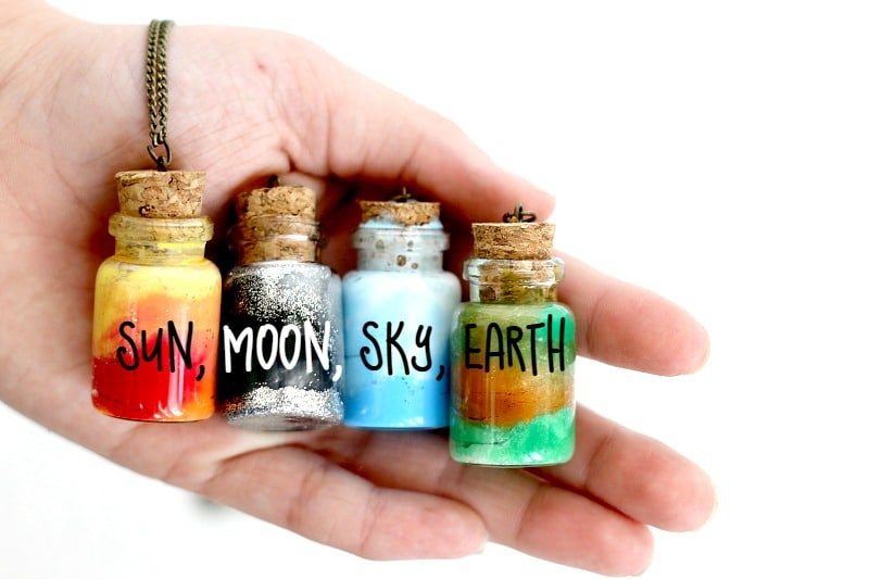 Create an element jar necklace for Cool money jars
