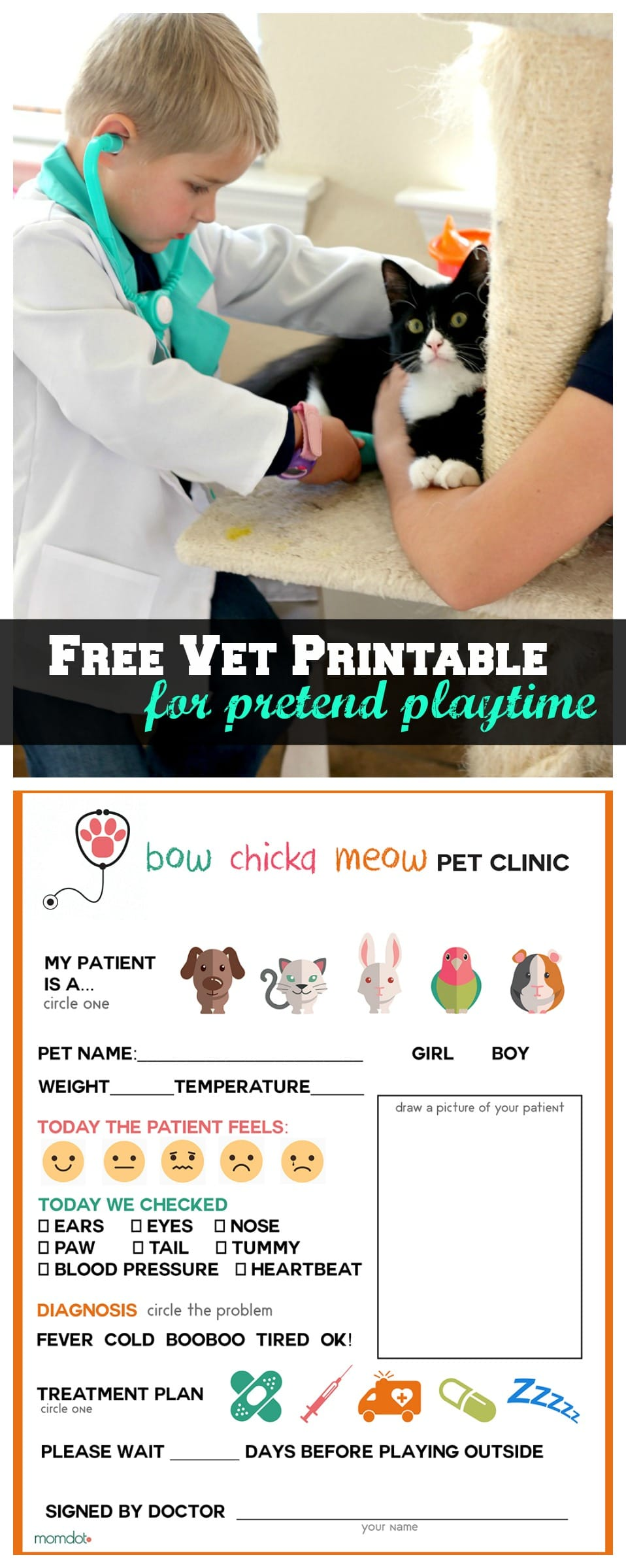 Free printable coloring pages veterinarians - Printable Vet Office Pretend Play Sheet Free Printable For Imagination Play