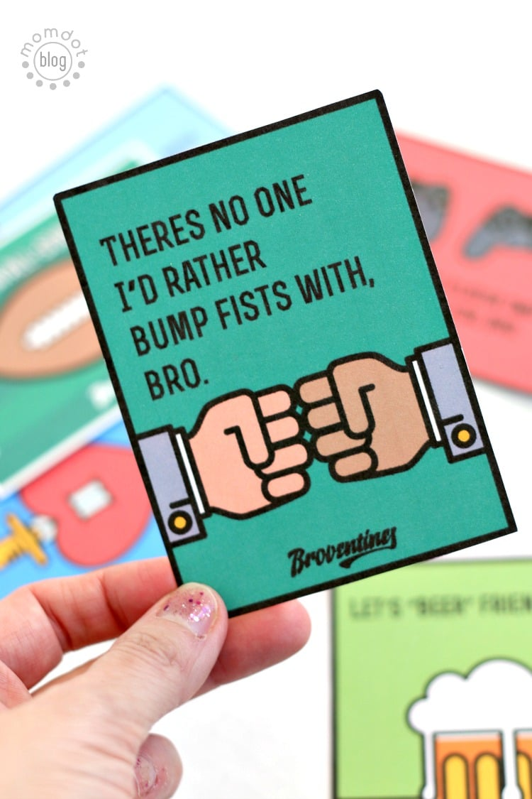 Broventines: Free Printable Valentines for your Bro (and guaranteed to pass on a giggle from the most manly man)
