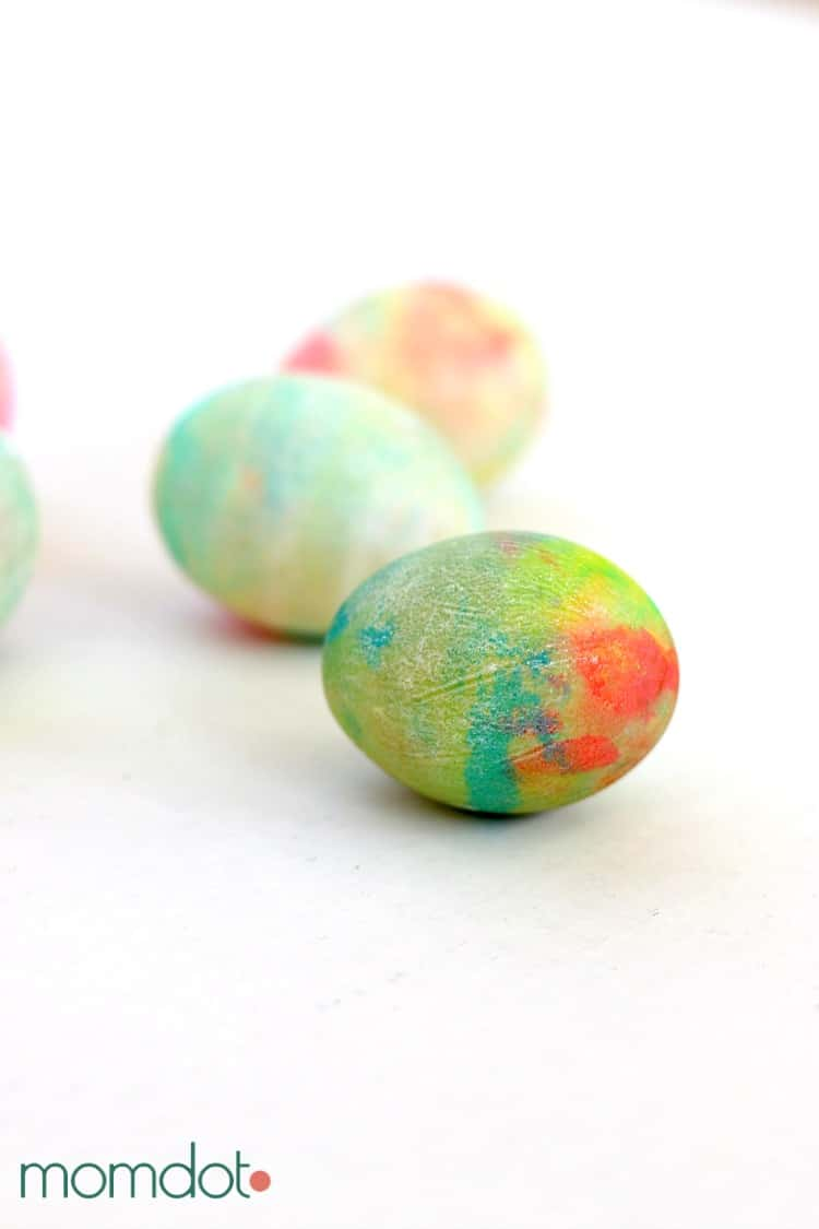 Whipped Cream Dyed Easter Eggs DIY