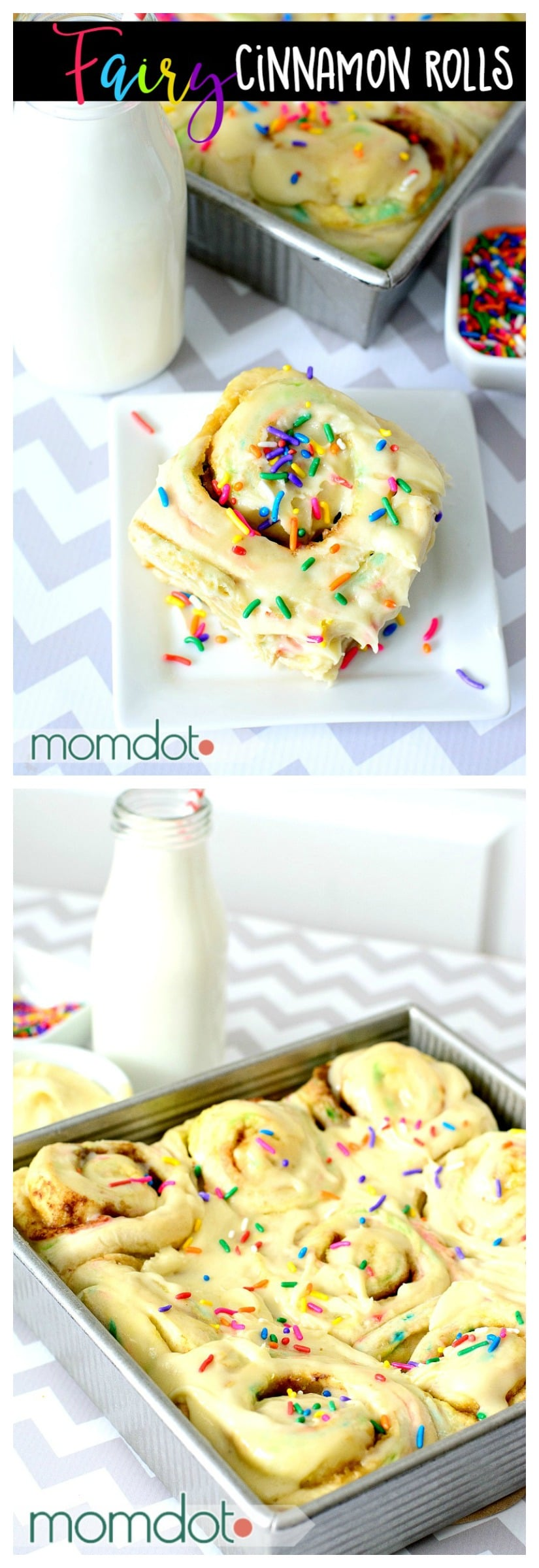 Fairy Cinnamon Roll Recipe: Funfetti Breakfast Roll Recipe, Birthday Breakfast with Cake Frosting!