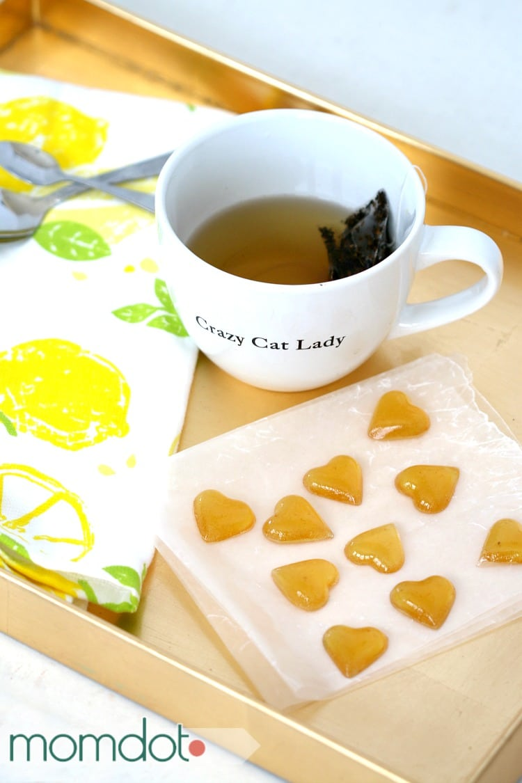 Melting cough drops in tea
